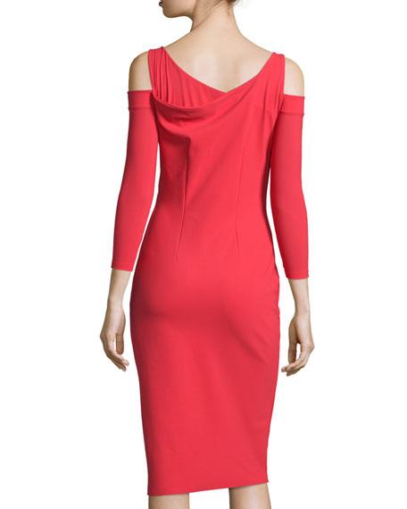 Kerrie Cold-Shoulder Cocktail Dress, Red