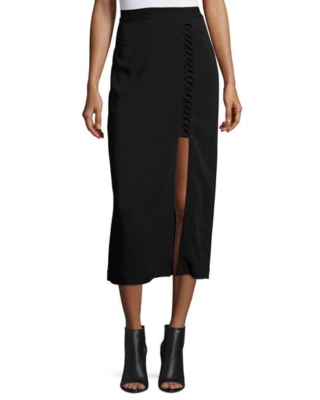 A.L.C. Steve Ponte Midi Skirt, Black