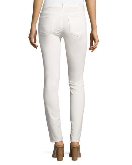 Prima Mid-Rise Cigarette Jeans, Powder White