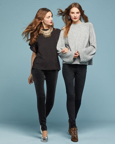 The Legging Velvet Skinny Jeans, Black