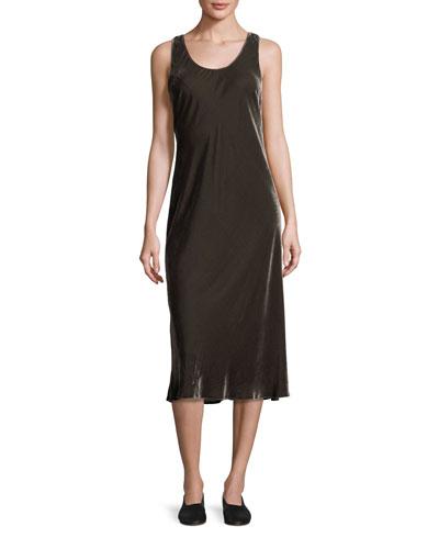 Velvet Midi Tank Dress