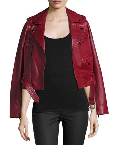Cooper Leather Motorcycle Jacket, Cruella