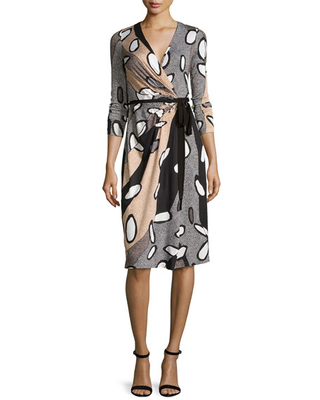 Diane von Furstenberg Elizabel Printed Silk Wrap Dress