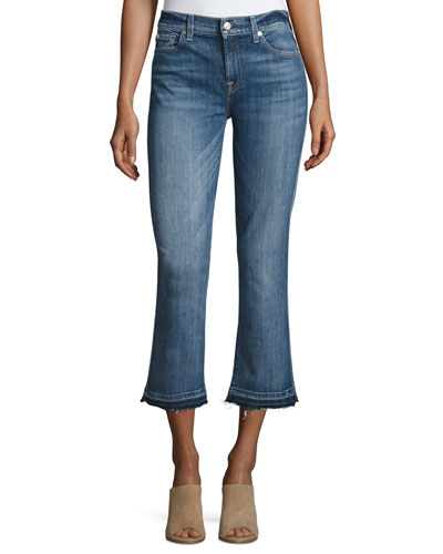 The Cropped Boot Jeans w/Released Hem, Chelsea Lights
