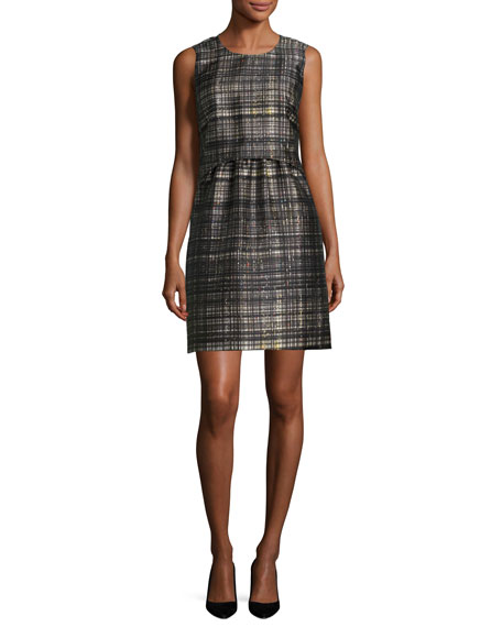 Milly Laura Confetti Check Dress