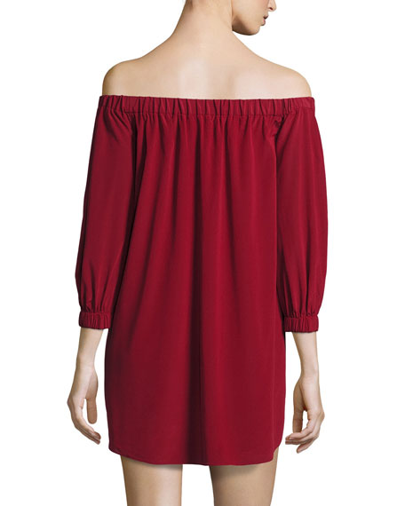 Desiree Off-the-Shoulder Tunic Dress