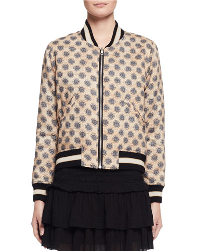 Dabney Reversible Cotton Bomber Jacket, Ecru