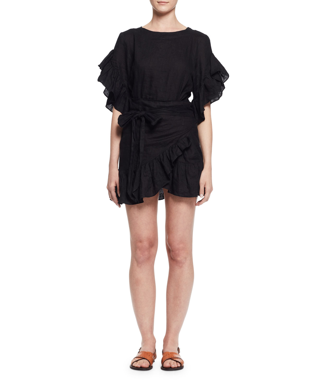 2ff677b90e Etoile Isabel Marant Delicia Ruffle-Trim Wrap Dress