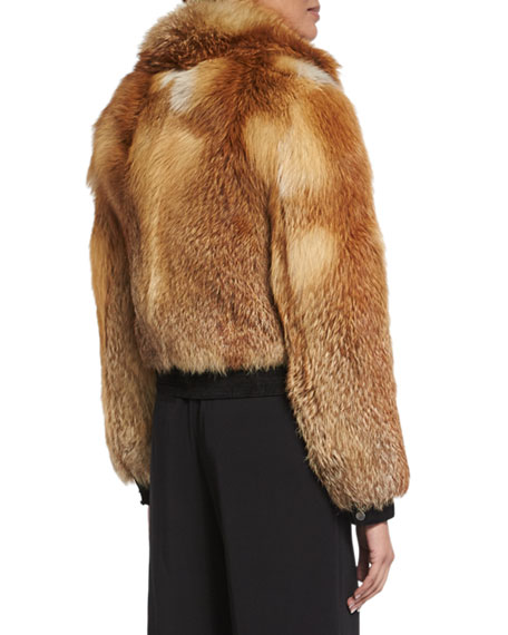 Boyce Fox Fur Bomber Jacket