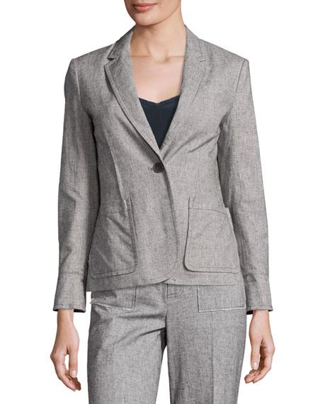 Tweed Schoolboy Blazer, Gray
