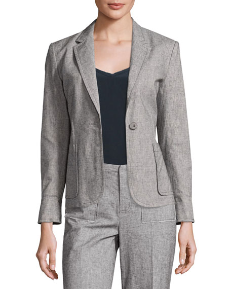 ATM Anthony Thomas Melillo Tweed Prep School Blazer