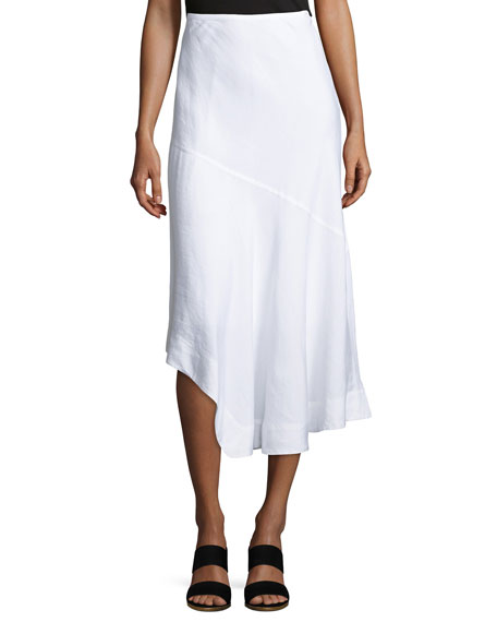 NIC+ZOE Long Engagement Linen-Blend Skirt