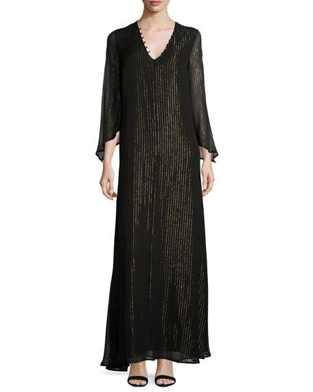 Rachel Pally Eneko Drama-Sleeve Striped Long Dress