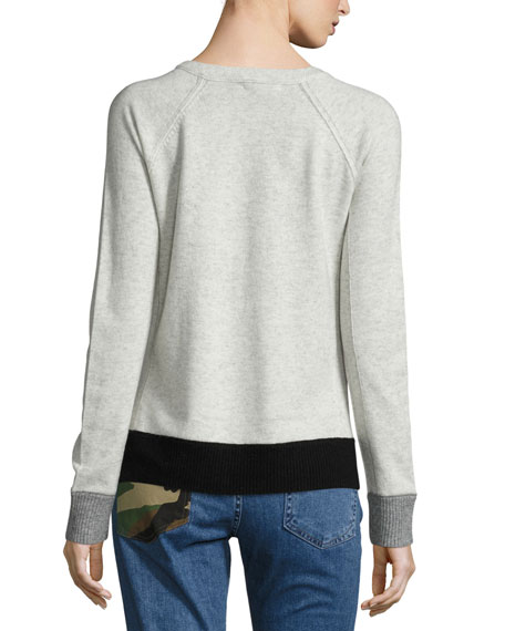 Charley Colorblock Pullover, Ivory Melange