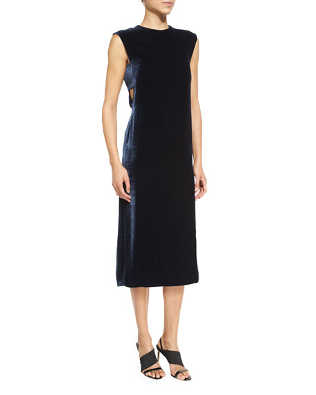 Elizabeth and James Michelle Sleeveless Velour Shift Dress,