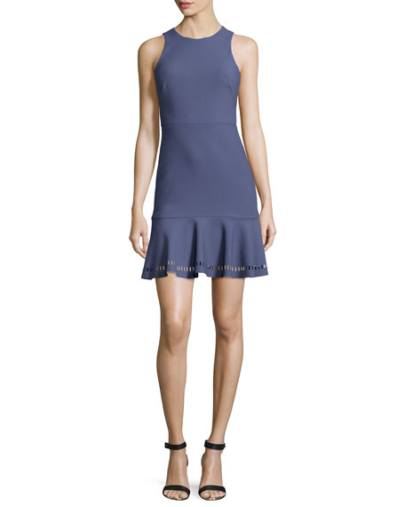 Elizabeth and James Hadley Fit-and-Flare Ponte Dress, Indigo