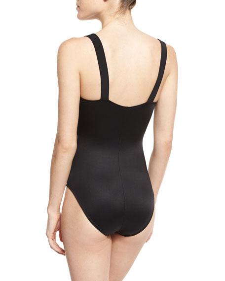 Max Rev It One-Piece Swimsuit, Black