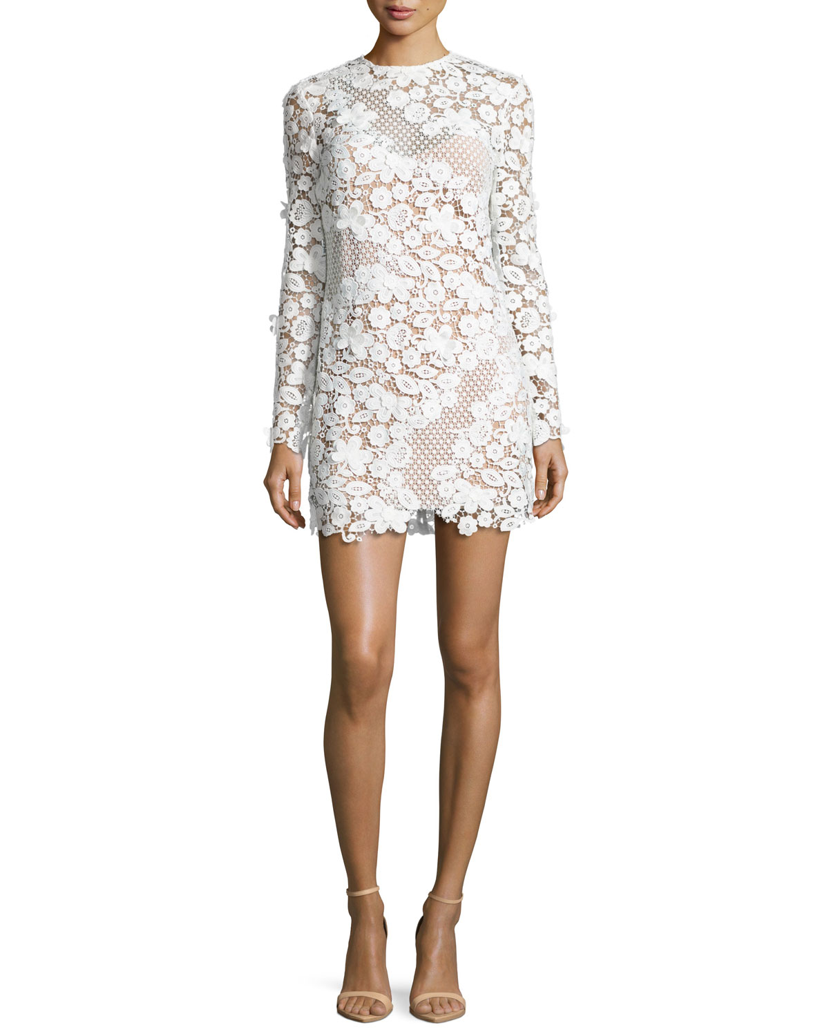 b24ce3b8a2f Self-Portrait 3D Floral-Lace Mini Dress