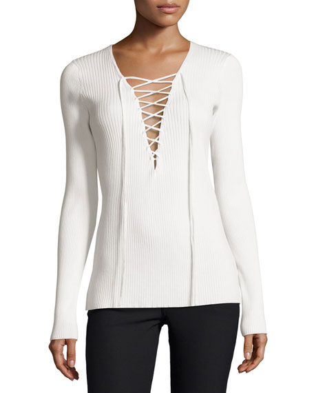 Solana Laced Ribbed Sweater