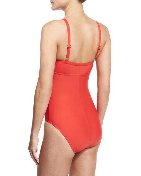 Cabana Solids Avisa One-Piece Swimsuit, Persimmon