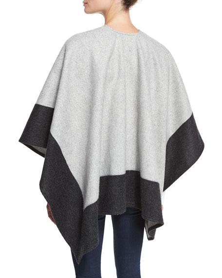 29b2bb4ca Rag & Bone Double-Face Colorblock Merino Wool Wrap, Gray