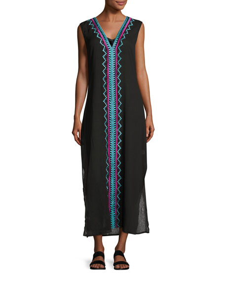 Ella Moss Swim The Dreamer Caftan Coverup, Black