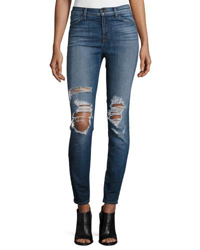Maria High-Waist Skinny Jeans, Decoy Destruct