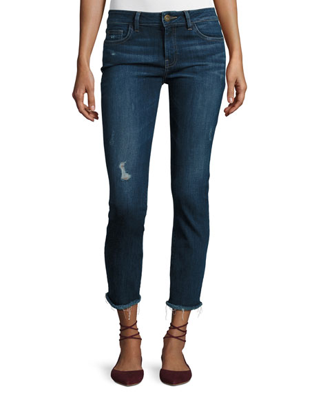 DL1961 Premium Denim Mara Instasculpt Ankle Straight-Leg Jeans,