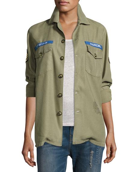 Etienne Marcel Logo Military Army Jacket