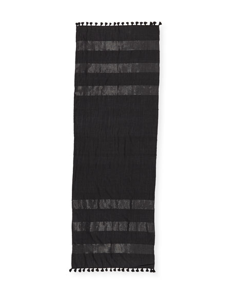Hand-Loomed Lurex® Striped Scarf