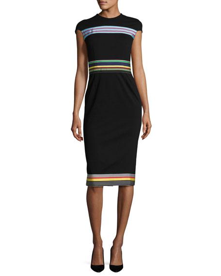 Diane Von Furstenberg Hadlie Striped Sheath Dress Neiman