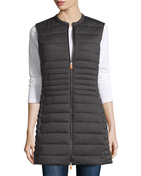 Save The Duck Lightweight Puffer Vest, Charcoal Grey