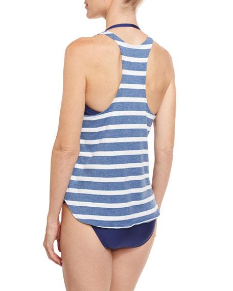 Striped Double-Dip Tank & Bandeau Swim Top
