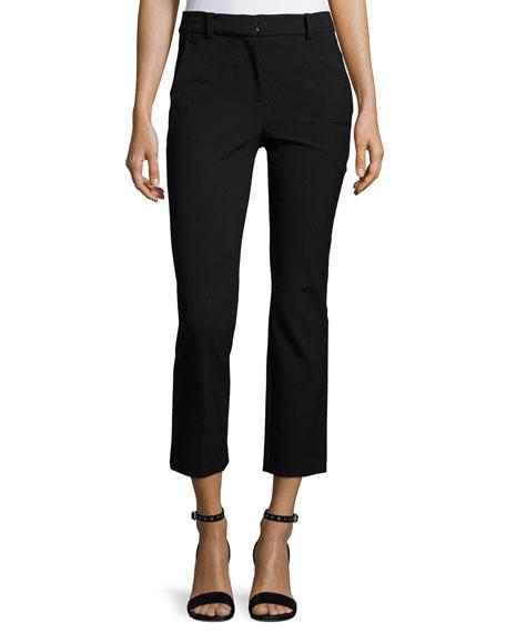 Rebecca Taylor Cropped Suit Pant & Tie-Neck Blouse