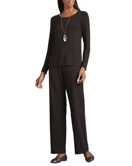 Eileen Fisher Straight-Leg Ponte Pants, Plus Size