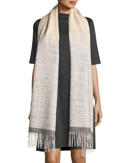 Eileen Fisher Heathered Wool Funnel-Neck Dress & Serape