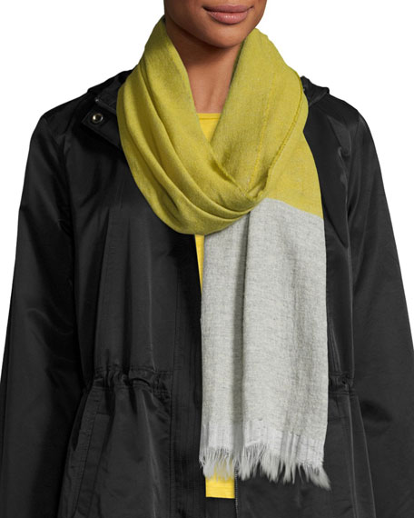 Eileen Fisher Cashmere & Linen Colorblock Scarf