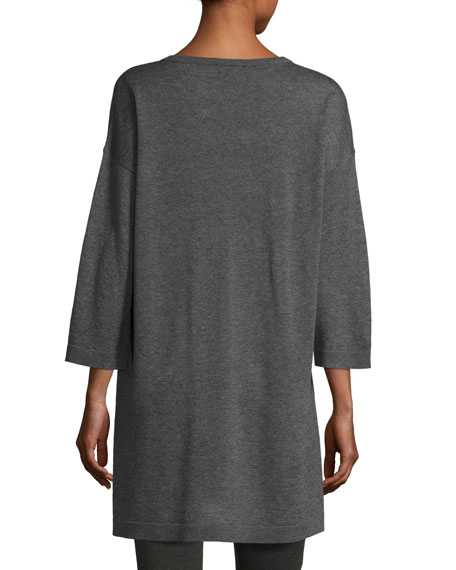 Fine Tencel-Alpaca Long Tunic