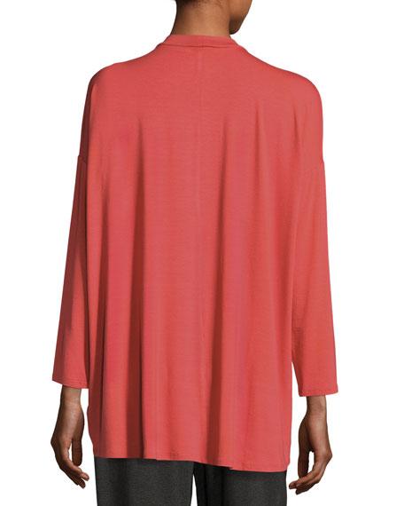 Mock-Neck Jersey Tunic