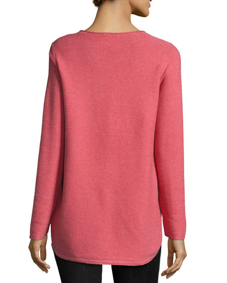 Round-Neck Long-Sleeve Top/Tunic