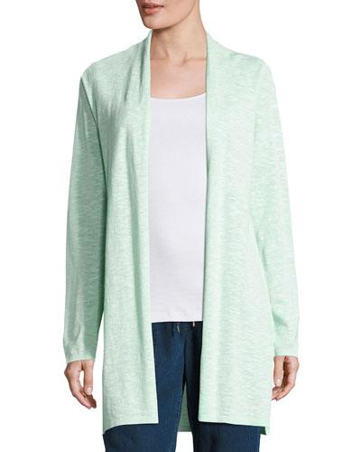 Linen-Cotton Long Cardigan, Aurora