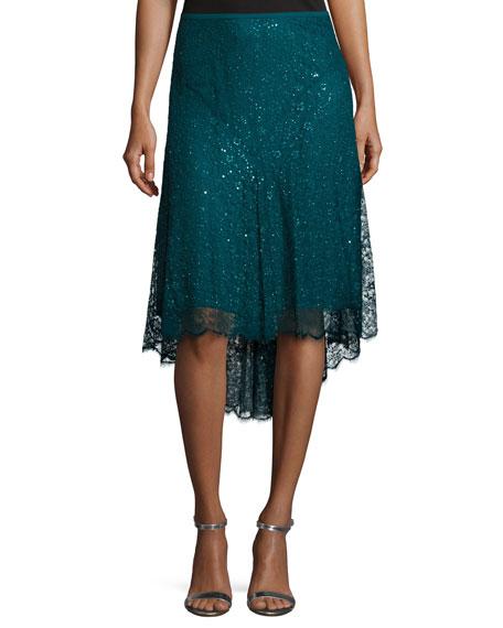 Chantilly Lace Asymmetric Skirt