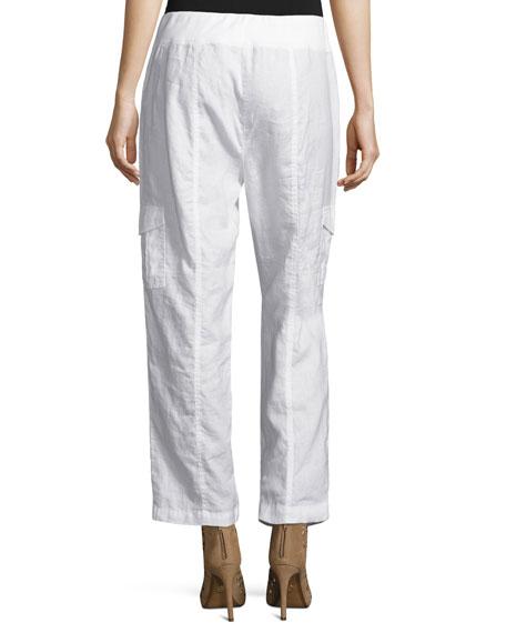 Organic Linen Ankle Pants, Plus Size