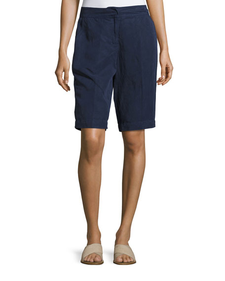 Eileen Fisher Tencel®-Blend Walking Shorts, Midnight