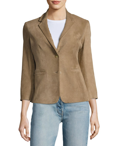 Nolbon Suede Two-Button Jacket