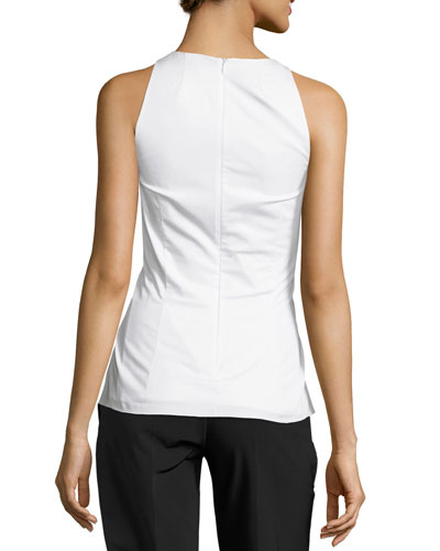 THE ROW Cottons TALLO SLEEVELESS LACE-UP TOP