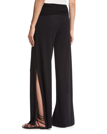 Tulle Palazzo Pants, Black