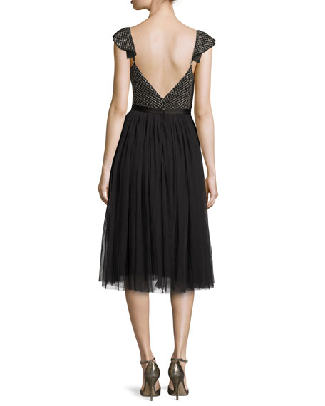 Swan Cocktail Dress, Black