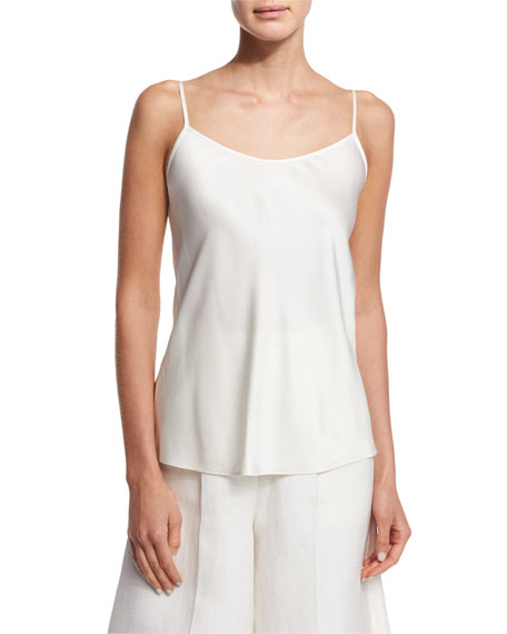 Co Scoop-Neck A-Line Camisole, Ivory