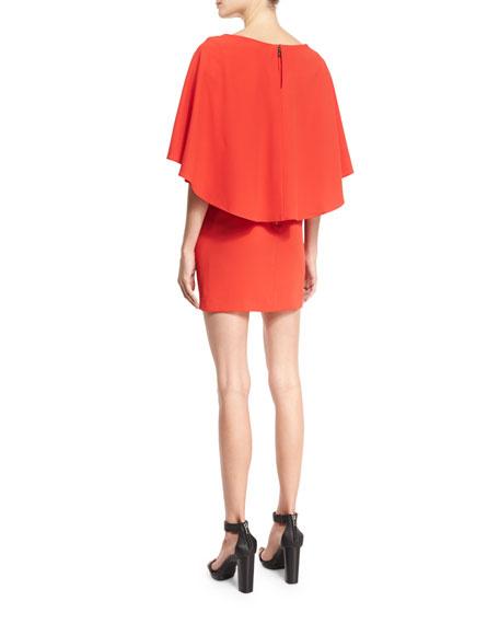 Cairo 3/4-Sleeve Cape Popover Dress